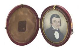 673 An American Portrait Miniature on Ivory Height of