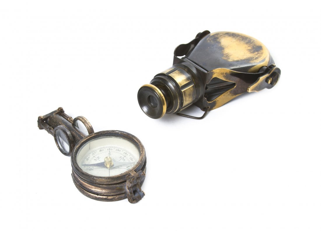 1135: A Brass Clad Monocular, Length of first 4 inches