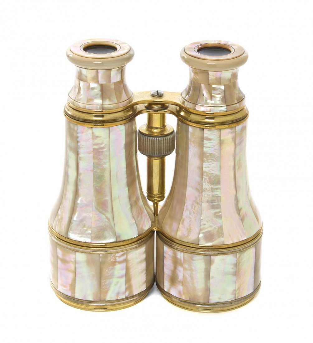 1148: A Pair of French Mother-of-Pearl Veneered Binocul