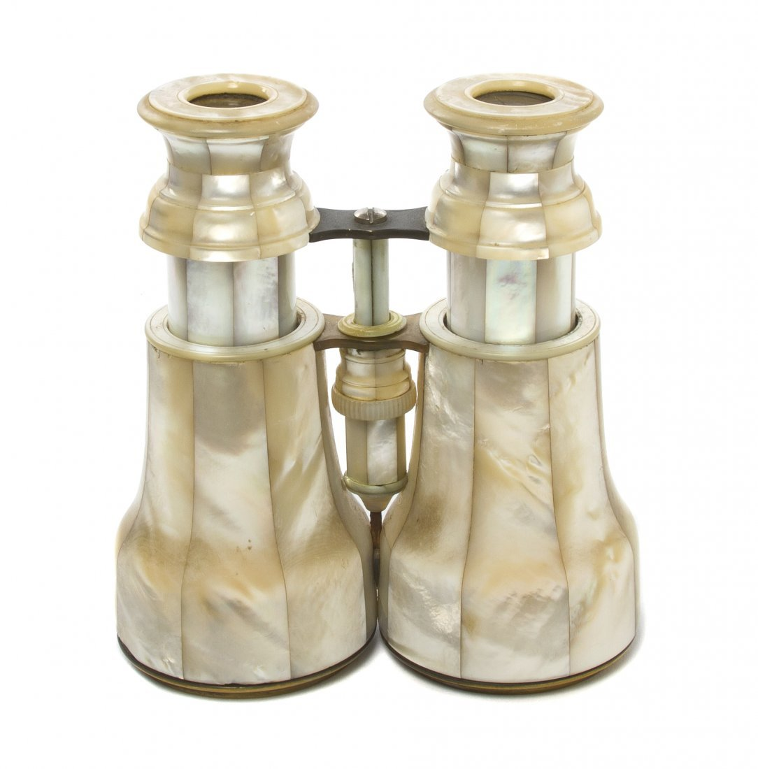 1151: A Pair of French Mother-of-Pearl Veneered Binocul