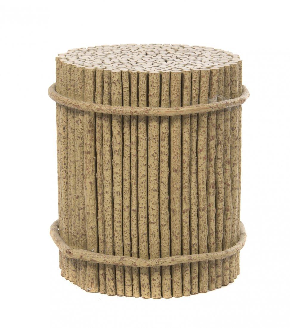 A Rustic Wood Pedestal, Height 20 1/2 x diameter 18 inc