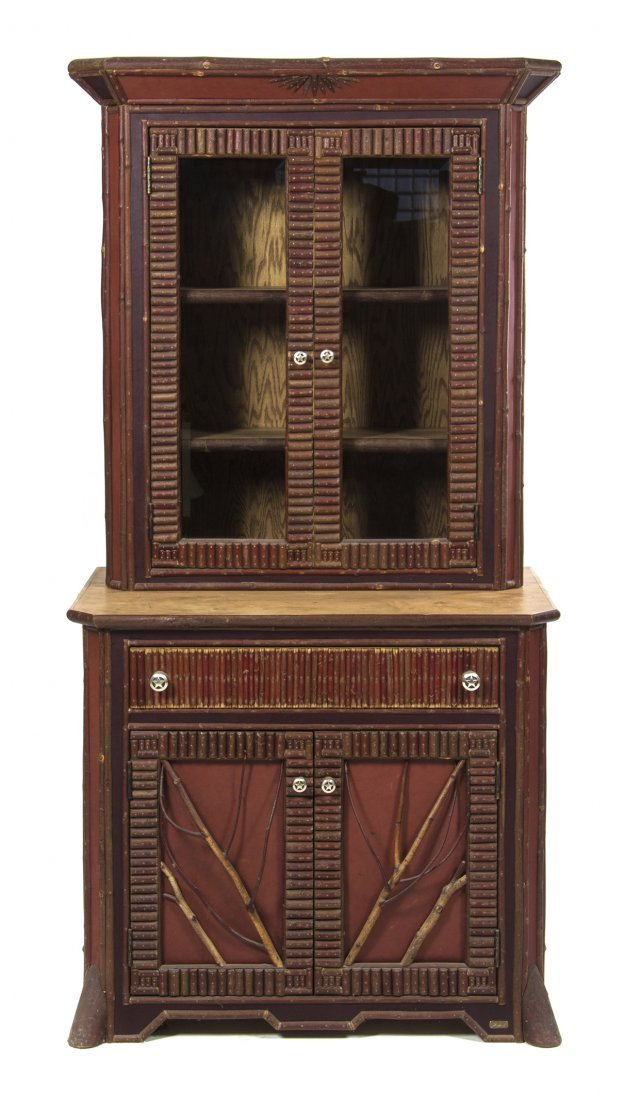 An American Adirondack Style Bookcase, Height 81 x widt