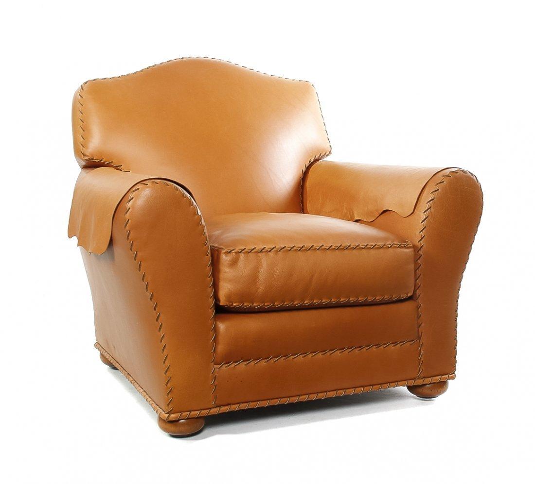 A Club Chair, Height 36 x width 34 x depth 42 inches.