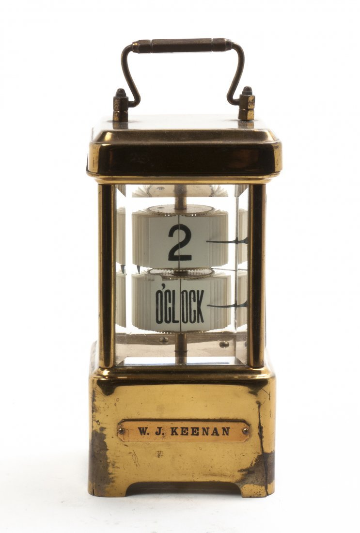 A German Glass and Brass Carriage Clock, Lenzkirch, Hei