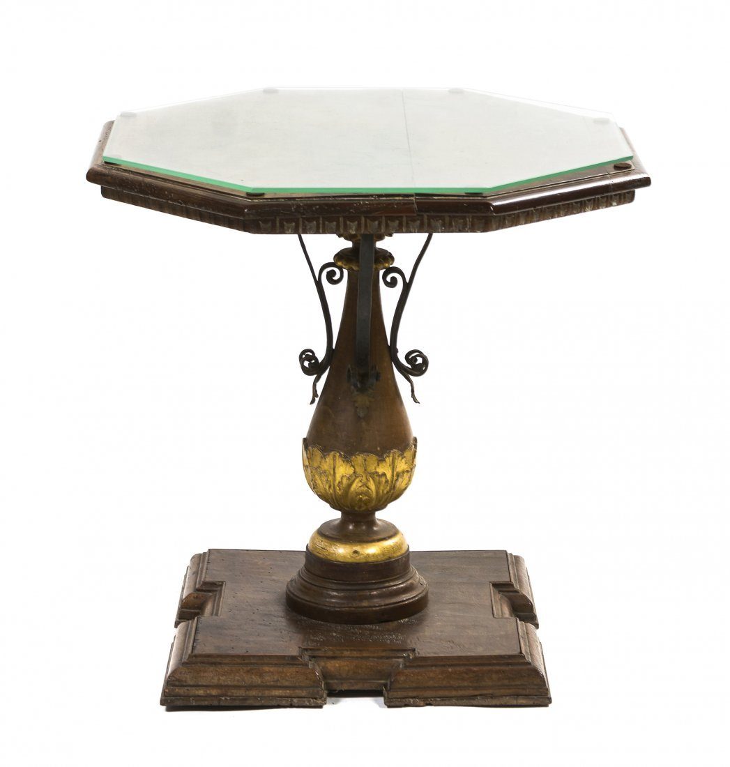 A Continental Parcel Gilt Occasional Table, Height 24 x