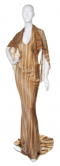 Angelo Marani, (Italian, b. 1953), Evening Gown with Fu