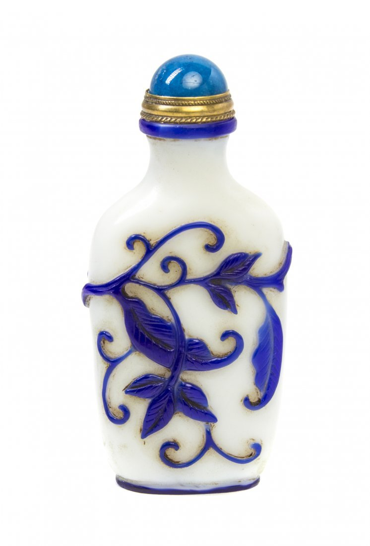 A Peking Glass Overlay Snuff Bottle, Height 2 5/8 inche