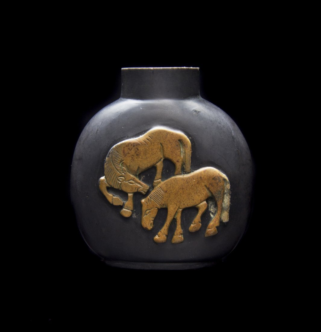 A Stone Snuff Bottle, Height 2 1/2 inches.