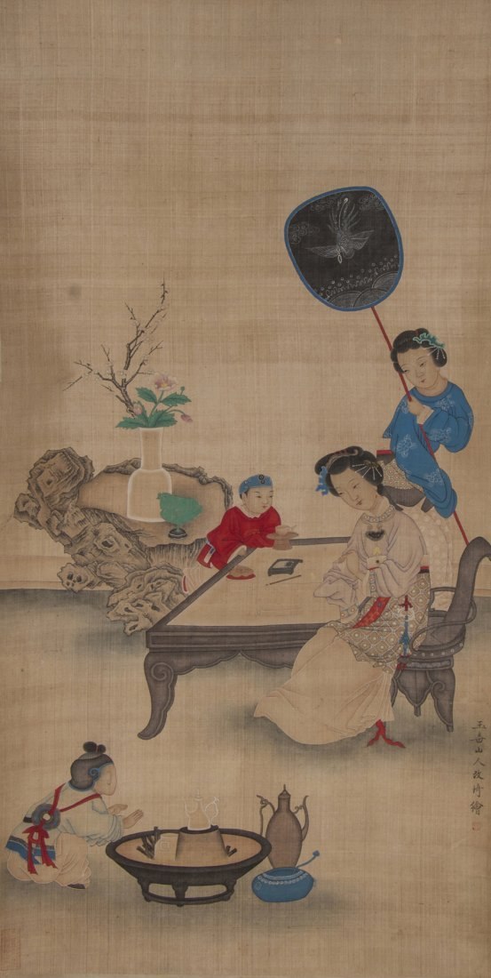 A Chinese Scroll Painting, Attributed to Gai Qi (1773-1