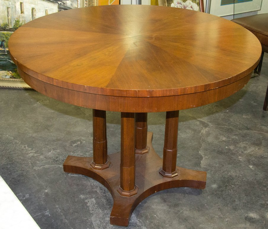 A Biedermeier Style Walnut Extension Dining Table, Bake