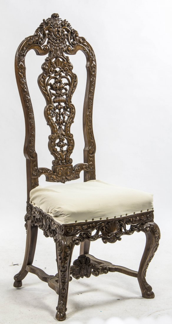A Renaissance Revival Style Side Chair, Height 50 5/8 i