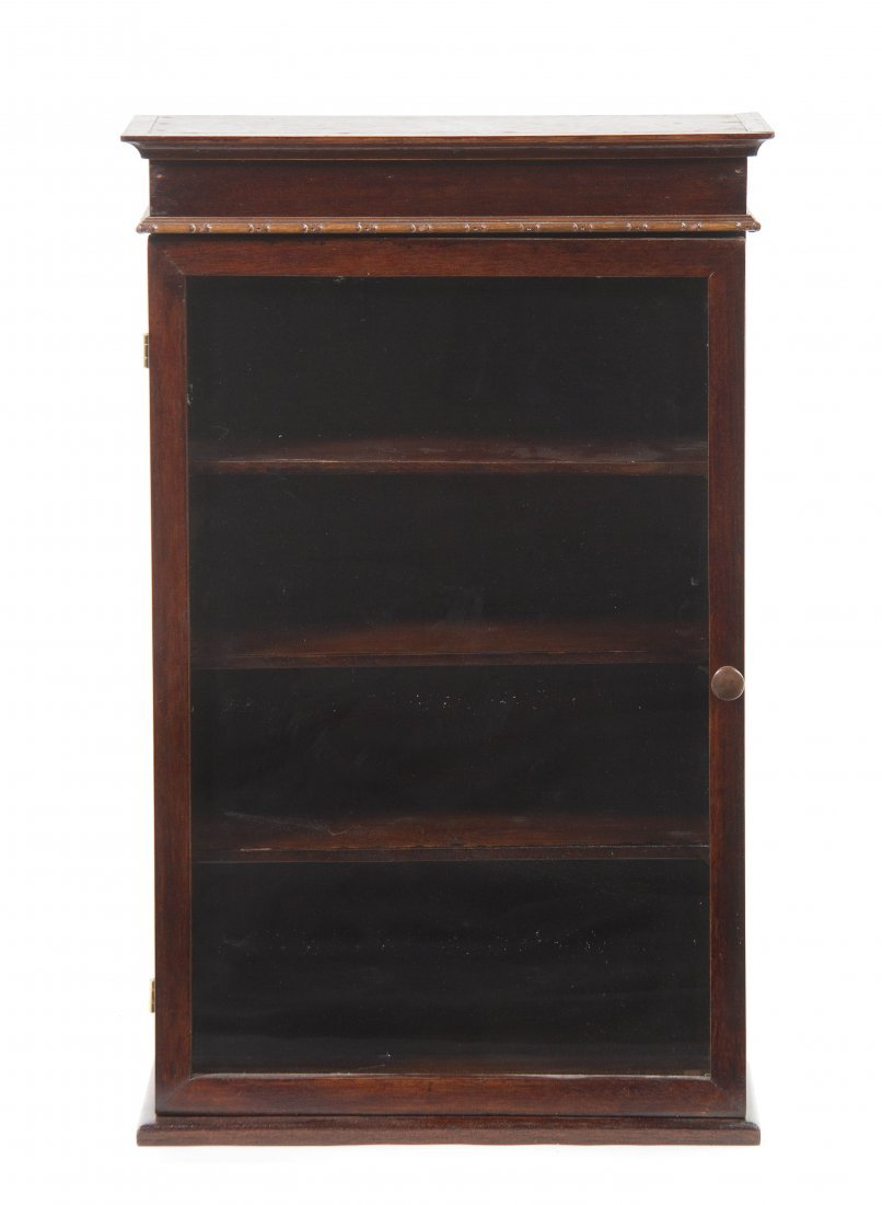 A Continental Mahogany Hanging Vitrine, Height 30 3/4 i
