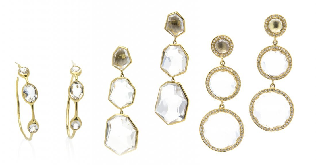 A Collection of 18 Karat Yellow Gold, Diamond and Rock
