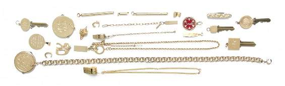 A Collection of Miscellaneous Gold Items, 157.00 dwts.