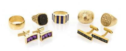 A Collection of Yellow Gold Jewelry 6520 dwts