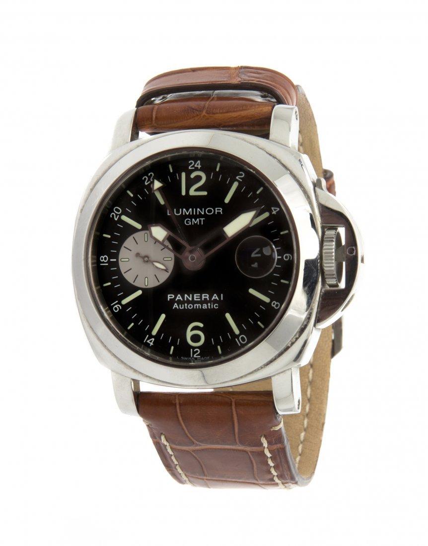 A Stainless Steel Ref. PAM 88 GMT Wristwatch, Panerai,