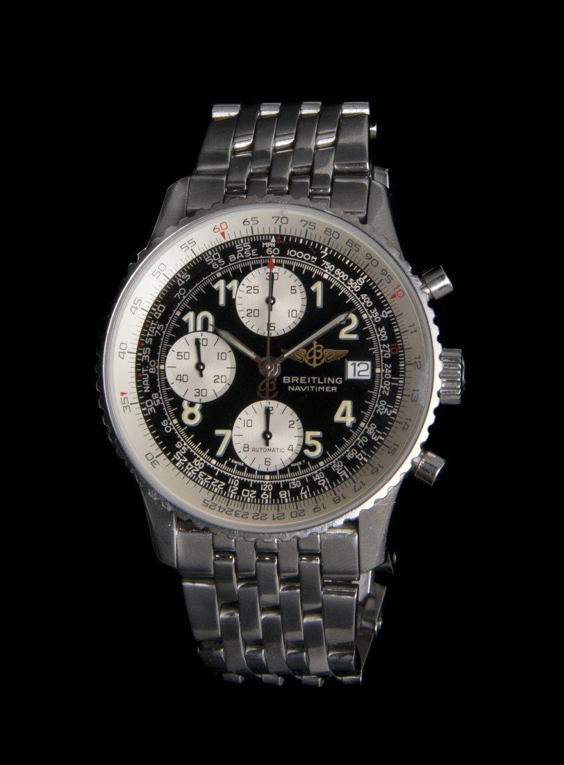 A Stainless Steel Ref. A13022 Navitimer Wristwatch, Bre