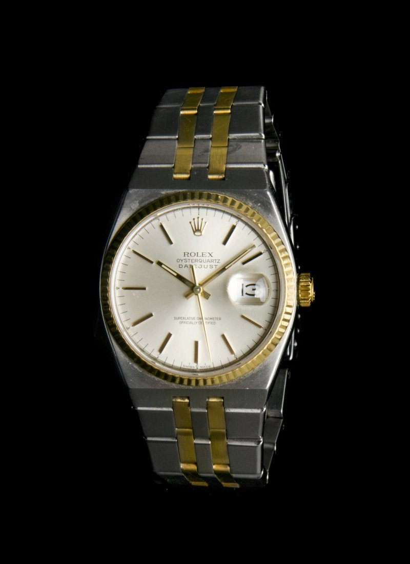 A Vintage Yellow Gold and Stainless Steel Oysterquartz