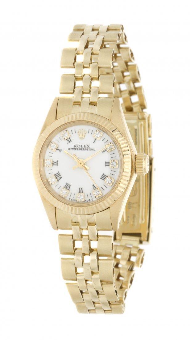 A 14 Karat Yellow Gold Ref. 6719 Oyster Perpetual Wrist