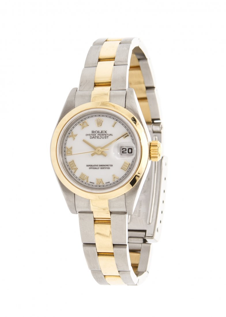 A Stainless Steel and Yellow Gold Datejust Wristwatch,
