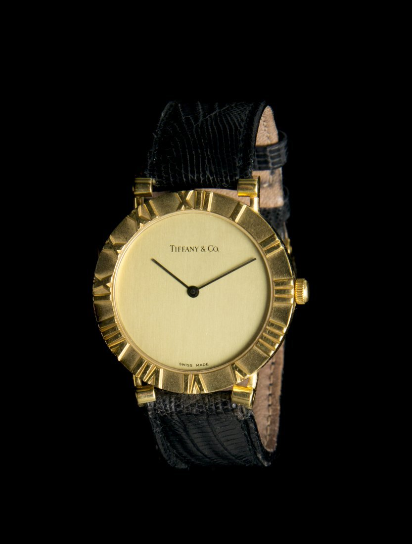 An 18 Karat Yellow Gold Atlas Wristwatch, Tiffany & Co.