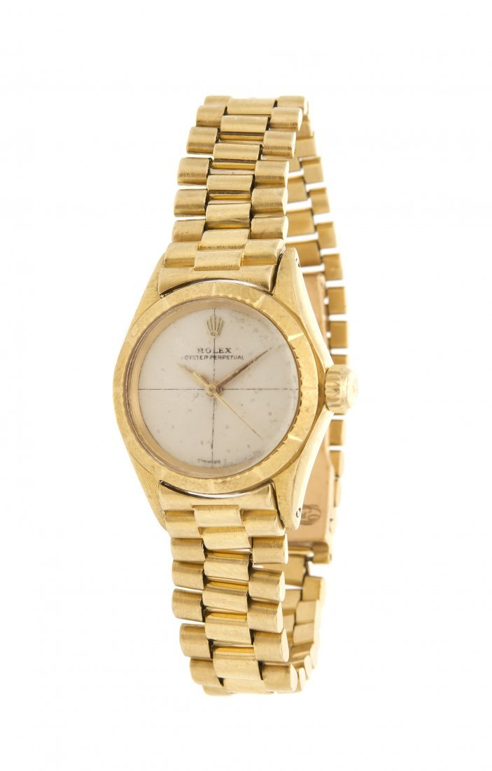 An 18 Karat Yellow Gold Oyster Perpetual Wristwatch, Ro