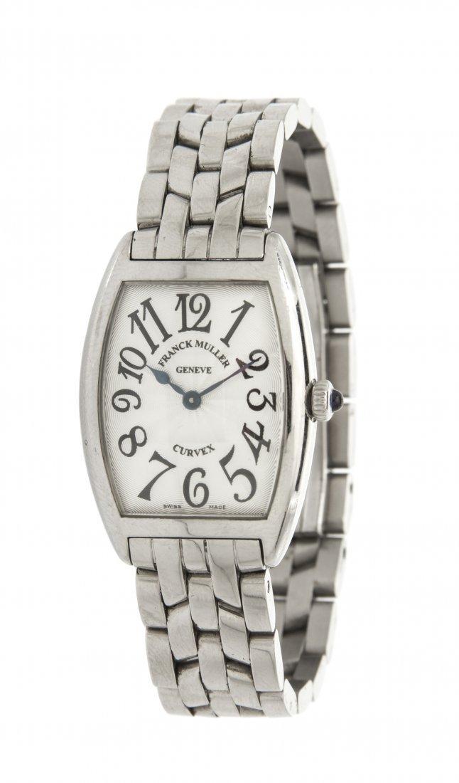 A Stainless Steel Cintree Curvex Wristwatch, Franck Mul