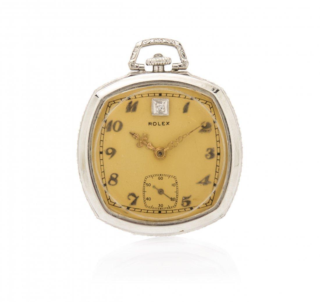 A Vintage 14 Karat White Gold Filled and Diamond Open F