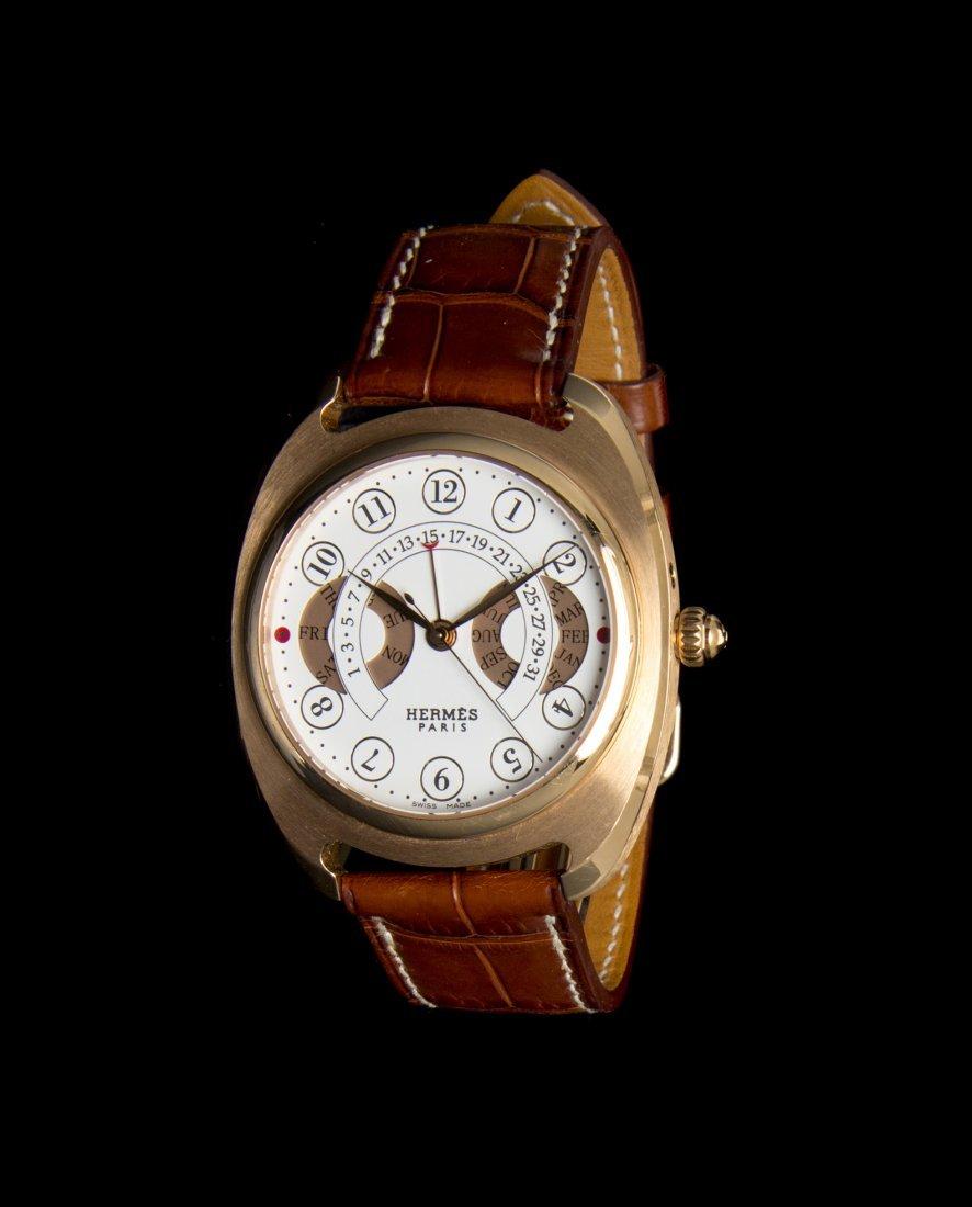 An 18 Karat Rose Gold Dressage Quantieme Annuel Wristwa