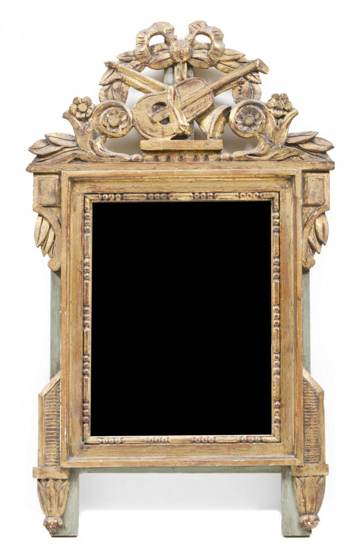 A French Giltwood Mirror, Height 25 inches x width 15 i