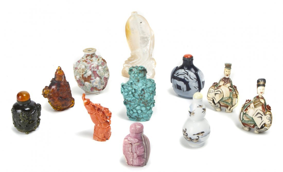 A Collection of Eleven Chinese Snuff Bottles, Height of