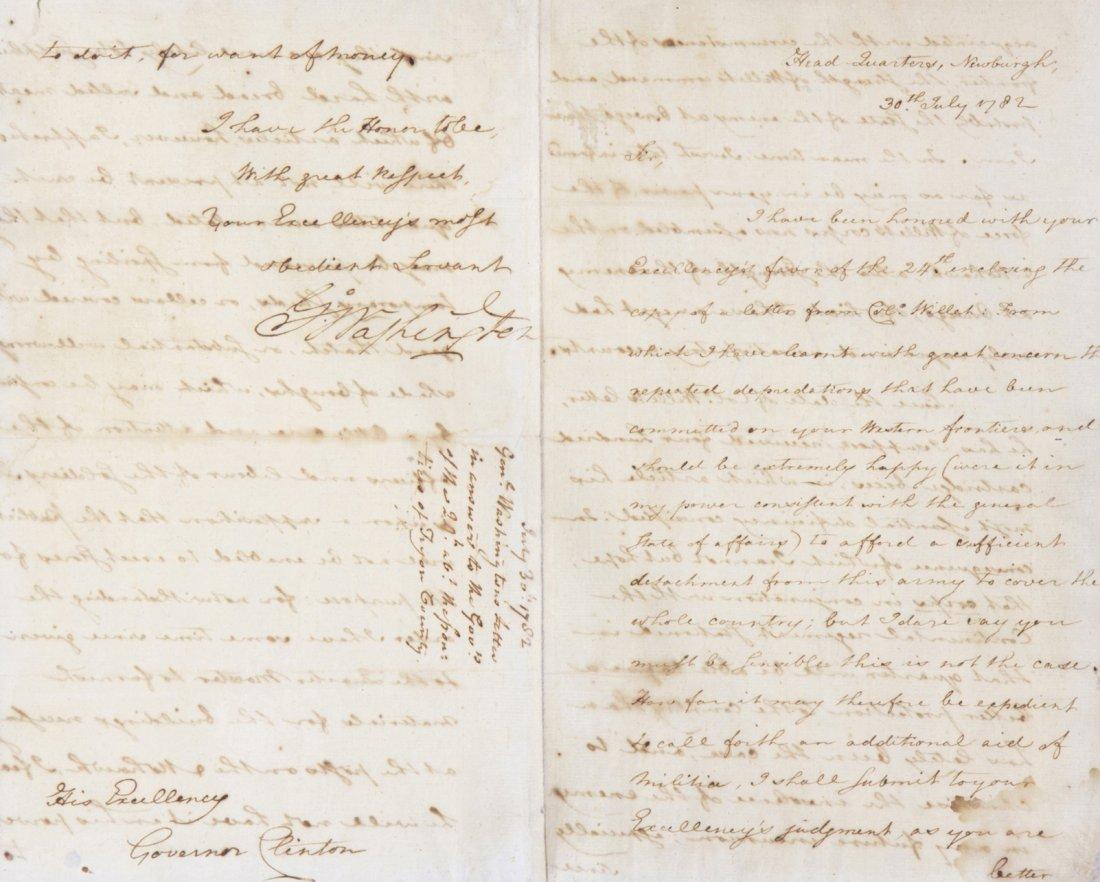WASHINGTON, GEORGE. War-date Letter signed, 3 1/2 pp