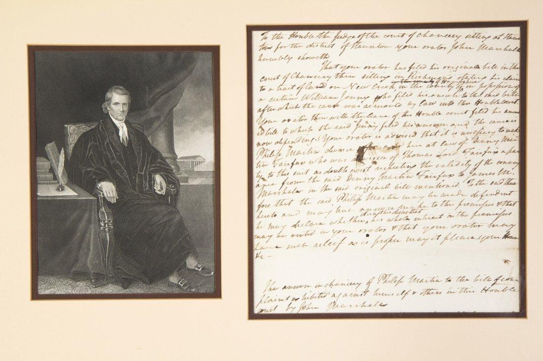 MARSHALL, JOHN. ADS, 1p., undated, signed twice. Summar