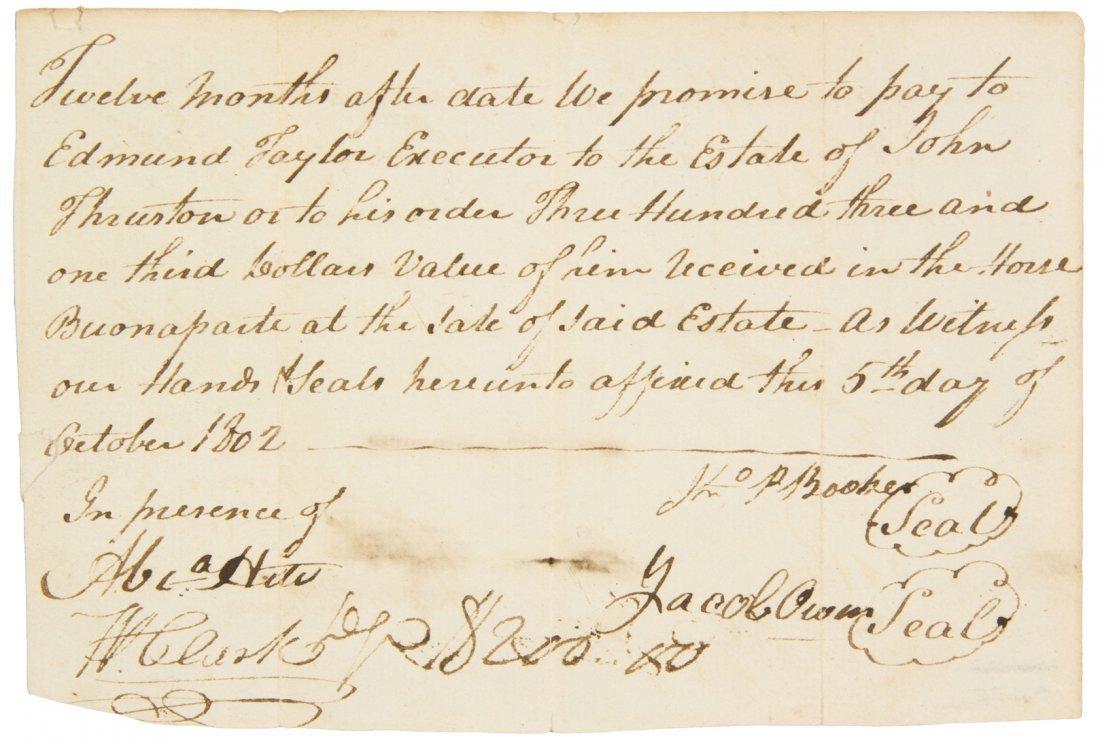 (LEWIS AND CLARK) CLARK, WILLIAM. Autograph document si
