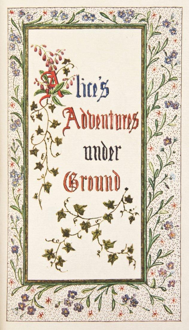 CARROLL, LEWIS. Alice's Adventures Underground. (NJ, 19