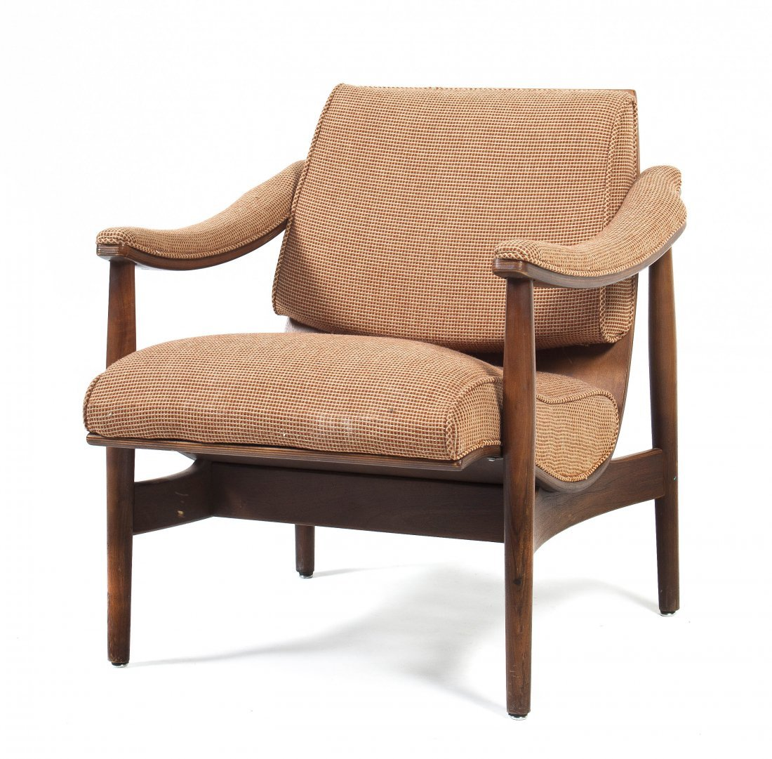 A Thonet Upholstered Armchair, Height 30 1/2 x width 28