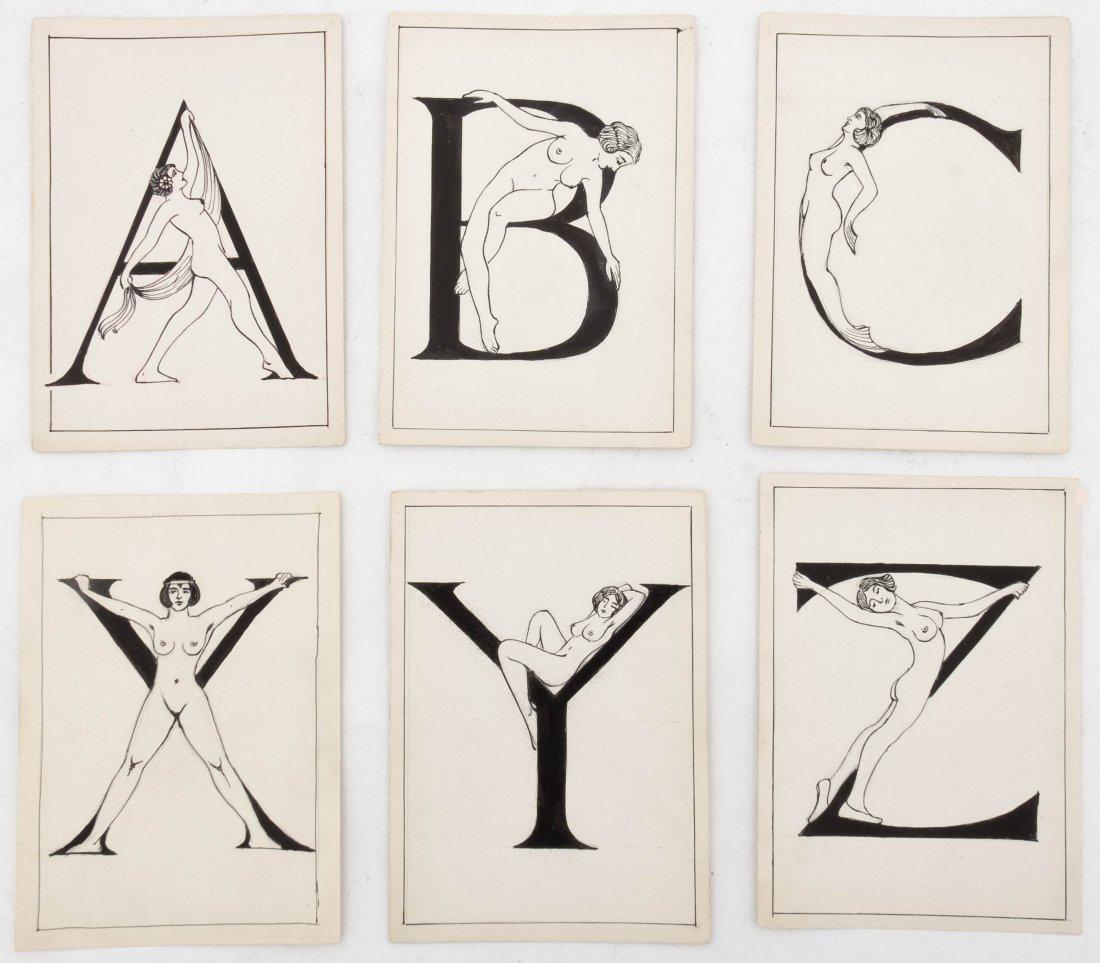 An Art Deco Stylized Alphabet, Height of each 7 x width