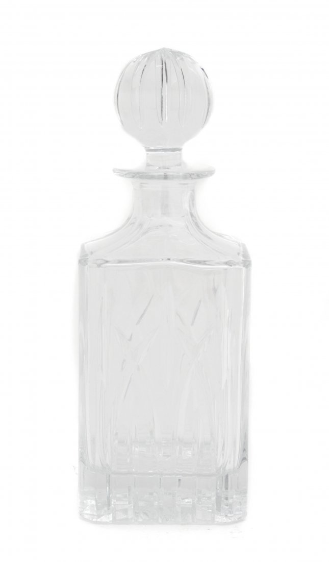 A Cut Glass Decanter, Cartier, Height 10 inches.