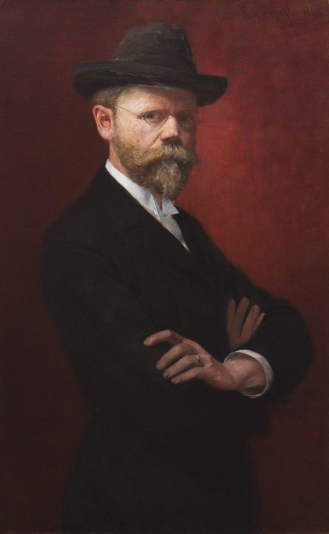 Robert Koehler, (Wisconsin, 1850-1917), Self Portrait (