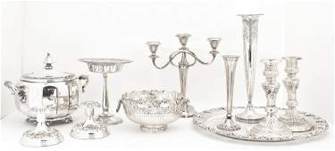 A Collection of Silverplate Table Articles Diameter of