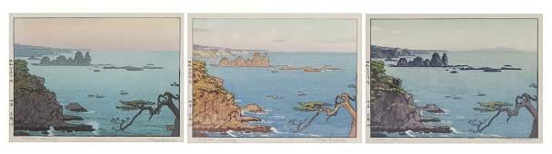 Three Japanese Woodblock Prints, Toshi Yoshida (1911-19