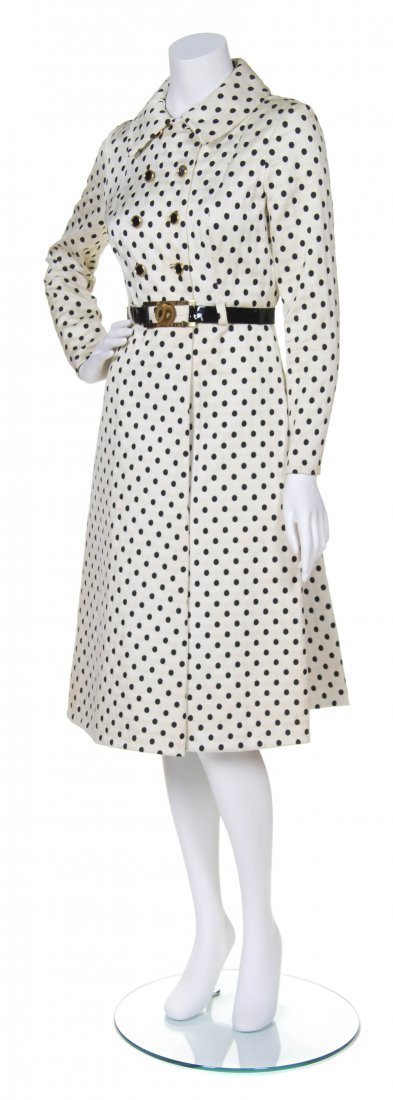 A Teal Traina White Afternoon Coat Dress,