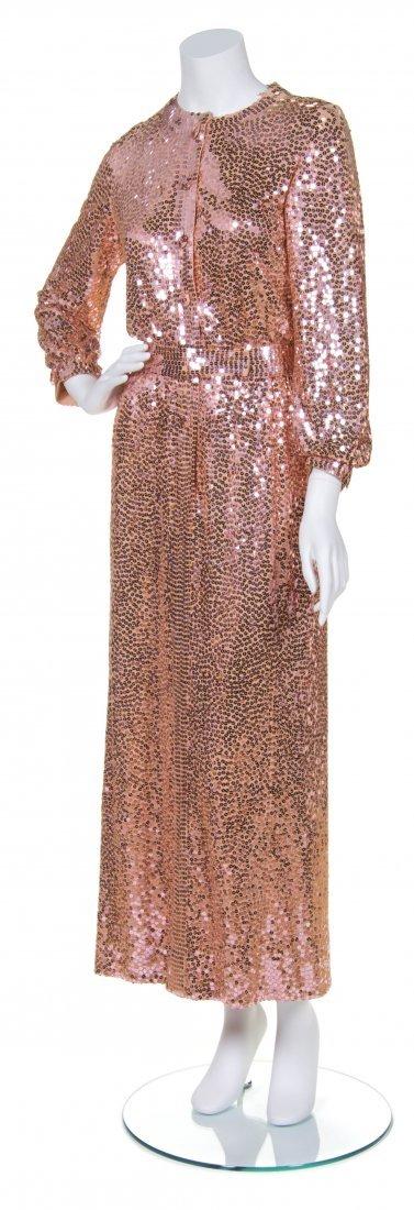A Norman Norell Pink Sequin Dress,