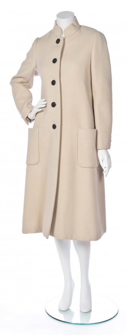 A Norman Norell Cream Wool Coat,