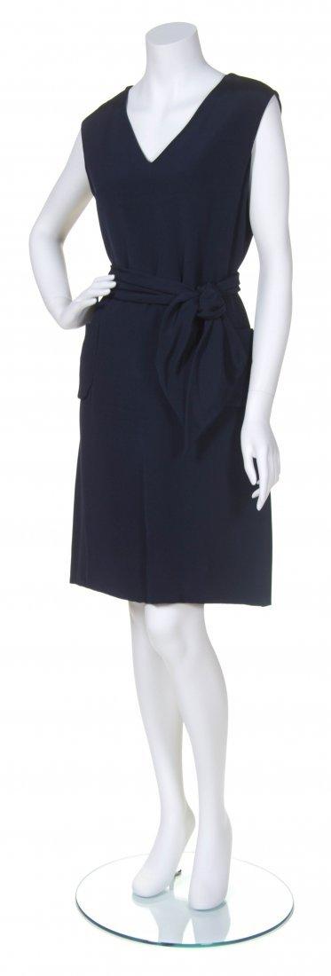 A Bill Blass for Maurice Rentner Navy Day Dress, Size 1