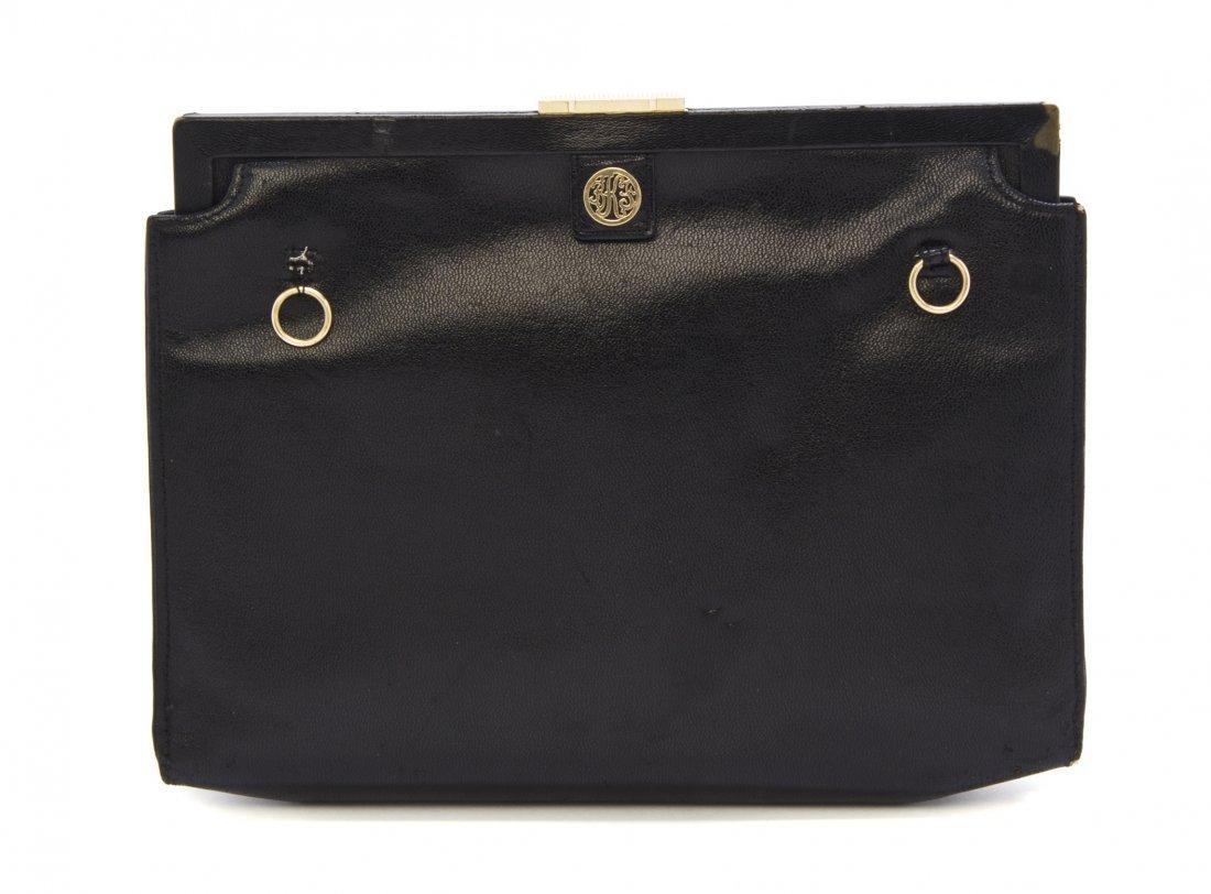 A Cartier Black Textured Leather Bag, 9 1/2 x 7 1/2 x 2
