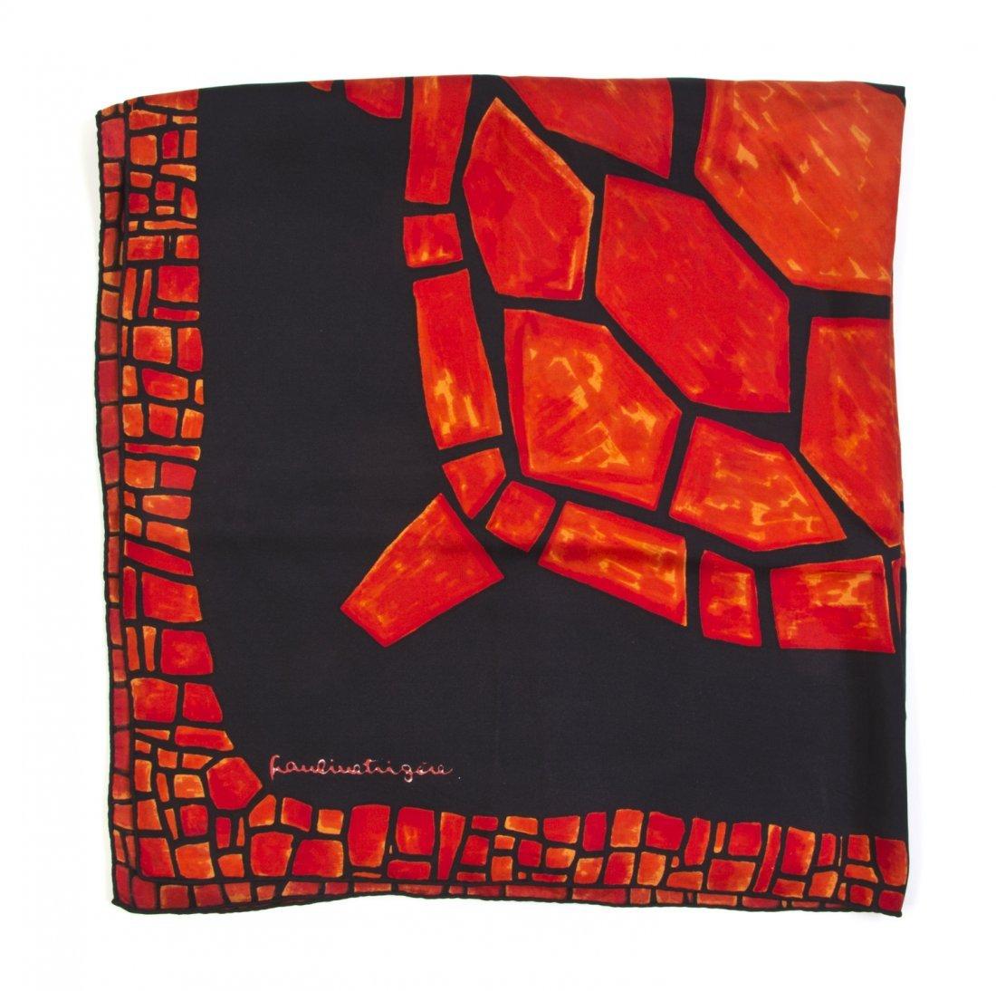 A Pauline Trigere Silk Scarf, 31 x 30 inches.