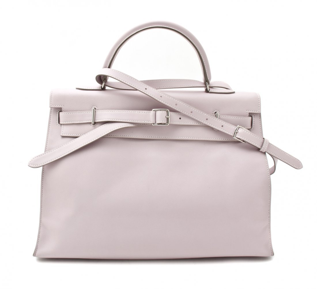An Hermes Light Pink Swift Leather Kelly Flat Bag, 37 x