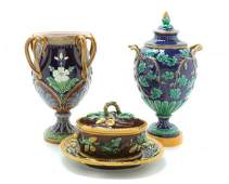 A Collection of Majolica Table Articles Height of firs