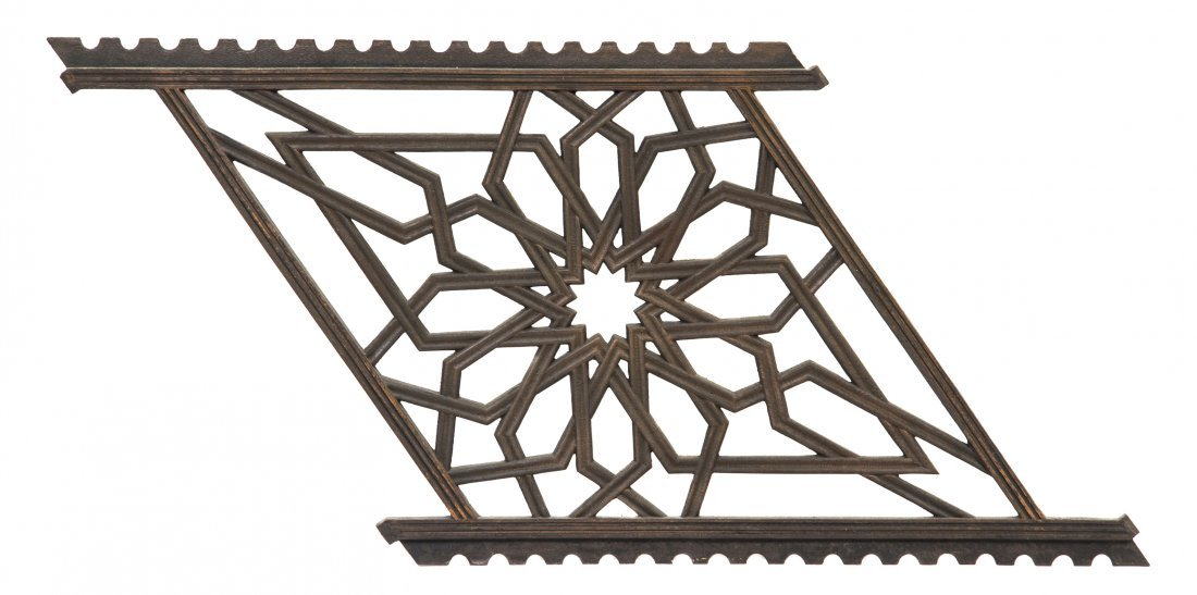 A Cast Iron and Copper Plated Panel from Chicago's Rook